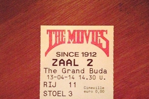 A ticket stub from Amsterdam's oldest movie theatre on Haarlemmerdijk