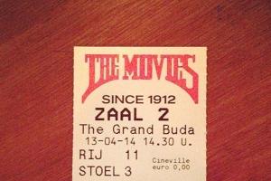A ticket stub from Amsterdam's oldest movie theatre on Haarlemmerdijk