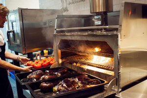 Busy kitchen at de Plantage, Amsterdam cafe/restaurant
