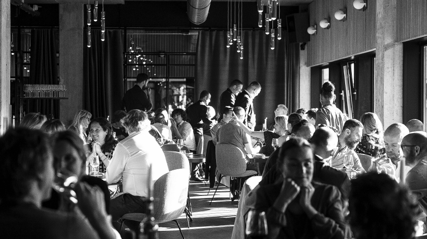 The Lobby's chic restaurant