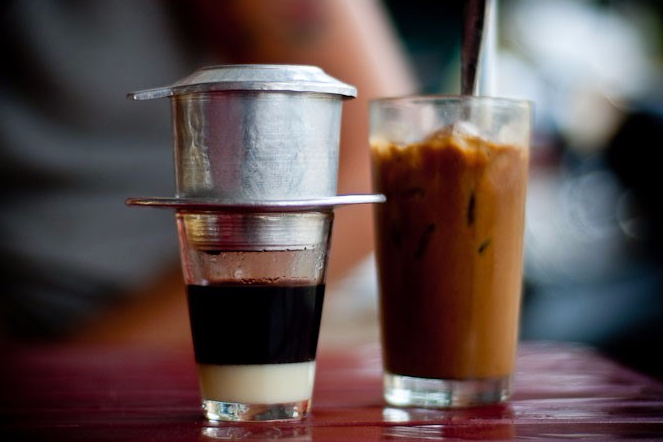 Hot and cold drip coffee